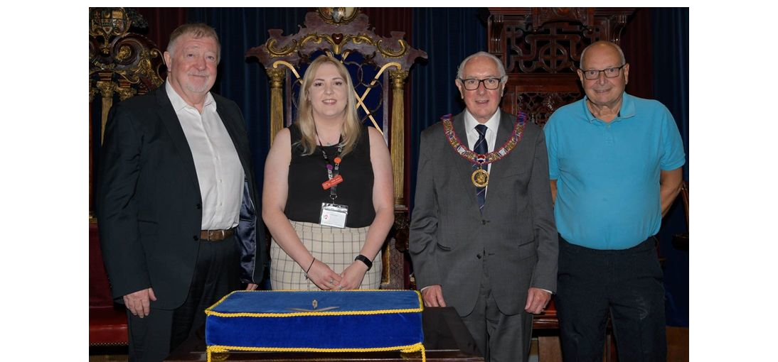Staffordshire/England - Stafford hospice given £5,000 donation from Freemasons