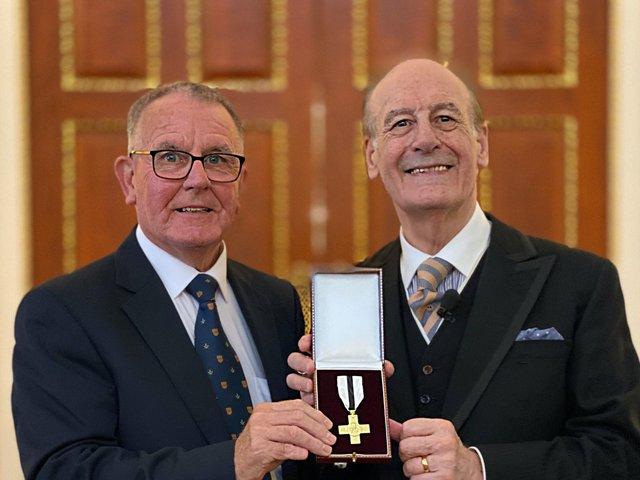 England/Northumberland Freemason receives prestigious award for his work with charities
