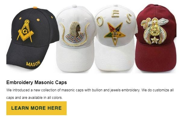 Masonic Caps at BrickMasons