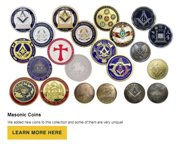 Masonic Coins at BrickMasons