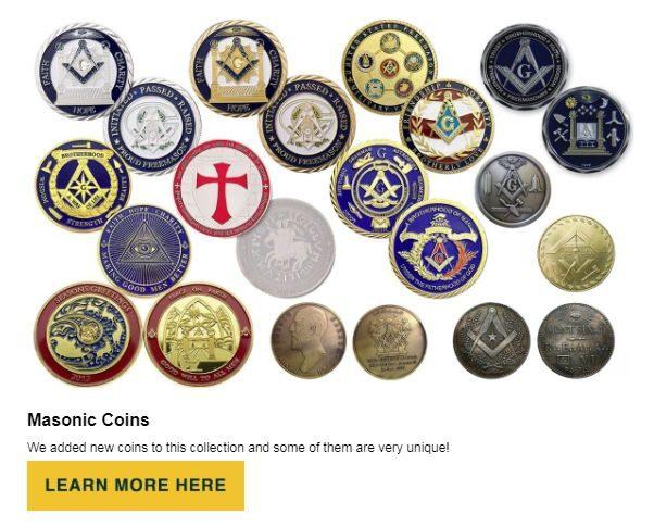 Masonic Coins at BrickMasons