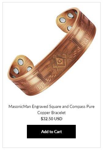 Masonic Copper Bracelets at MasonicMan