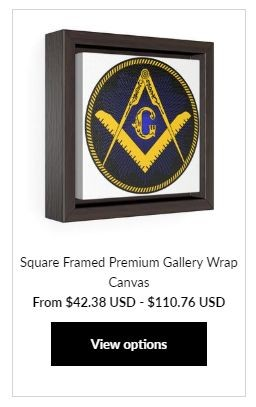 Masonic Square Framed at MasonicMan