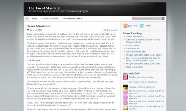 The Tao of Masonry