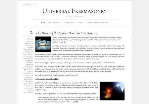 Universal Freemasonry Blog