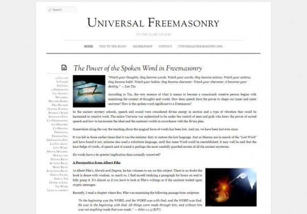 Universal Freemasonry Blog